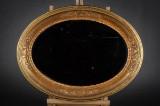 Nyrokoko spejl samt ovalt spejl, forgyldte (2)
