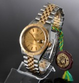 Rolex Datejust 'Turn-O-Graph'. Men's watch, 18 kt. gold and steel, c. 1995
