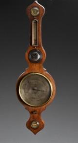 Barometer af mahogni, 1900-tallet