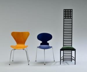 Miniature møbler, Børge Mogensen, Arne Jacobsen m.fl. (9)