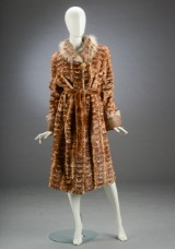 Mink coat with lynx details, size 42