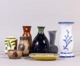 Samling vaser bl. a Carl-Harry Stålhane, Wilhelm Kåge (8)