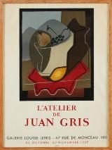 Juan Gris utställningsaffisch