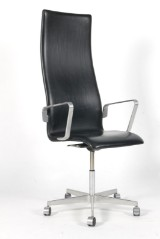 Arne Jacobsen. High-backed Oxford height-adjustable office chair with armrest, model 3292
