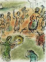Farblithographie nach Marc Chagall
