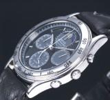 Seiko 'Chronograph'. Herreur i stål med månegang og alarmfunktion