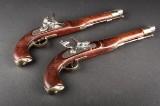 Et par Engelske 18-tals flintepistoler
