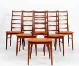 Niels Koefoed. Set of 6 chairs, Model 'Lis', in solid teak (6)
