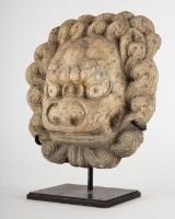 Figur / Skulptur / Maske, Löwe, Marmor, Qing-Dynastie, 19. Jahrhundert, China