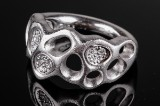 Ole Lynggaard Morning Dew ring, 18 kt. white gold