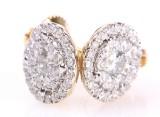 Par diamant ørestikkere fra FHP. 14 kt. guld. 0.63 ct. (2)