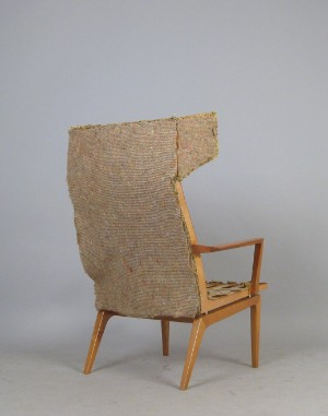 Gro er ohrensessel highback chair der 1950 60er jahre for Ohrensessel 1950