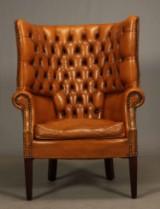 Wingbackchair i chesterfieldstil