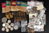 Mønter Erindringsmønter, Møntsæt, Medaljer, Udenlandske med mere