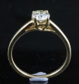 Solitaire ring in 18k with brilliant cut diamond 0.65 ct
