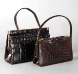 Väskor, krokodil, bl.a NK, 2 st
