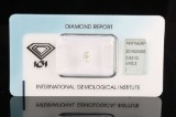 1 sealed cushion-cut diamond 0.62ct with IGI cert