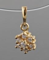 Pendant in18kt set with brilliant cut diamonds 0.20 ct
