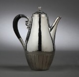 Johan Rohde for Georg Jensen. 'Cosmos' sterling silver coffee pot, 1915-27