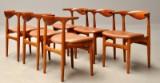 Knud Færch. A set of six 'Kohorn' chairs, model 251 (6)
