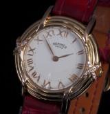 Hermès 'Lady'. Ladies watch, 18 kt. gold, with diamonds, 1990s