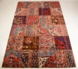 Persisk patchwork tæppe, 307x206 cm