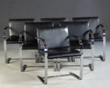 Ludwig Mies van der Rohe, set of six chairs / cantilever chairs, model 'Brno MR50', Knoll International (6)