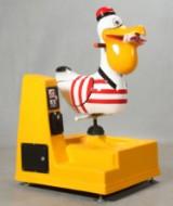 Vippemaskine med pelikan til butikker eller gågader.