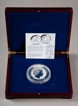 Australien. 30 dollars Kookaburra 1 kilo sølvmønt 2004