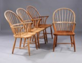 Fritz Henningsen. A set of four Windsor chairs, model CH18A. (4)