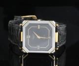 Longines rustfrit stål og belagt guld Quartz ur med papirer <br>