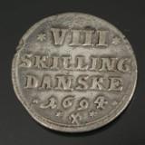 Christian V, Glückstadt, 8 skilling 1694, sølv