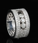 Ring with 'dancing diamonds ' 1.20ct