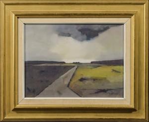 Thomas Graae, landskab - Dk, Odense, Kratholmvej - Thomas Graae (1897-?), landskab, olie på plade, sign. Th. Graae, 36,5x46,5 cm. (49x59 cm) - Dk, Odense, Kratholmvej