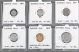 Sverige samling sølvmønter, inkl. 10.krone guldmønt 1876 (30)