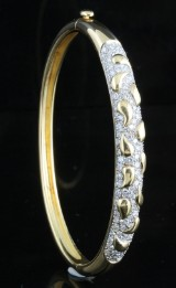 Diamond bangle in 18kt approx. 2.50ct