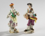 Porcelain figures, Galante Kapelle, Meissen, Kändler/Meyer (2)