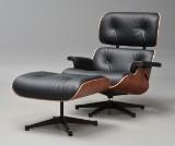 Charles Eames. Lounge Chair med skammel i Santos Palisander