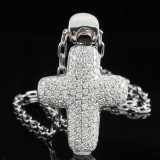 18kt diamond necklace approx 2.00ct
