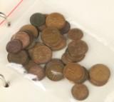 Samling mønter og sedler, Danmark
