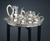 Mappin & Webb. Coffee and tea service, sterling silver, London 1908 (5)
