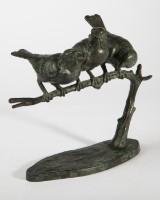 Spurvegruppe, bronze, Wilhelm Robra