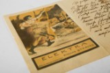 Lovis Corinth, an autograph / letter with lithograph