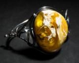 Armband/Armspange mit Bernstein, 925er Silber