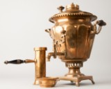 Russisk samovar/kulsamovar omkring 1900 af messing