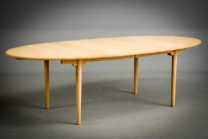wegner spisebord Hans J. Wegner. Dining table, oak, with extension | Lauritz.com wegner spisebord