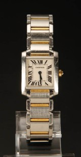 Cartier, Tank Francaise, damearmbåndsur