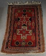 Handknuten matta, antik/semiantik, sannolikt Kaukasisk 215x146 cm