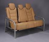 Three-seater sofa made with Porsche Cayenne backseats