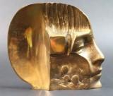 Raf Verjans, Bronzerelief in Kopfform
